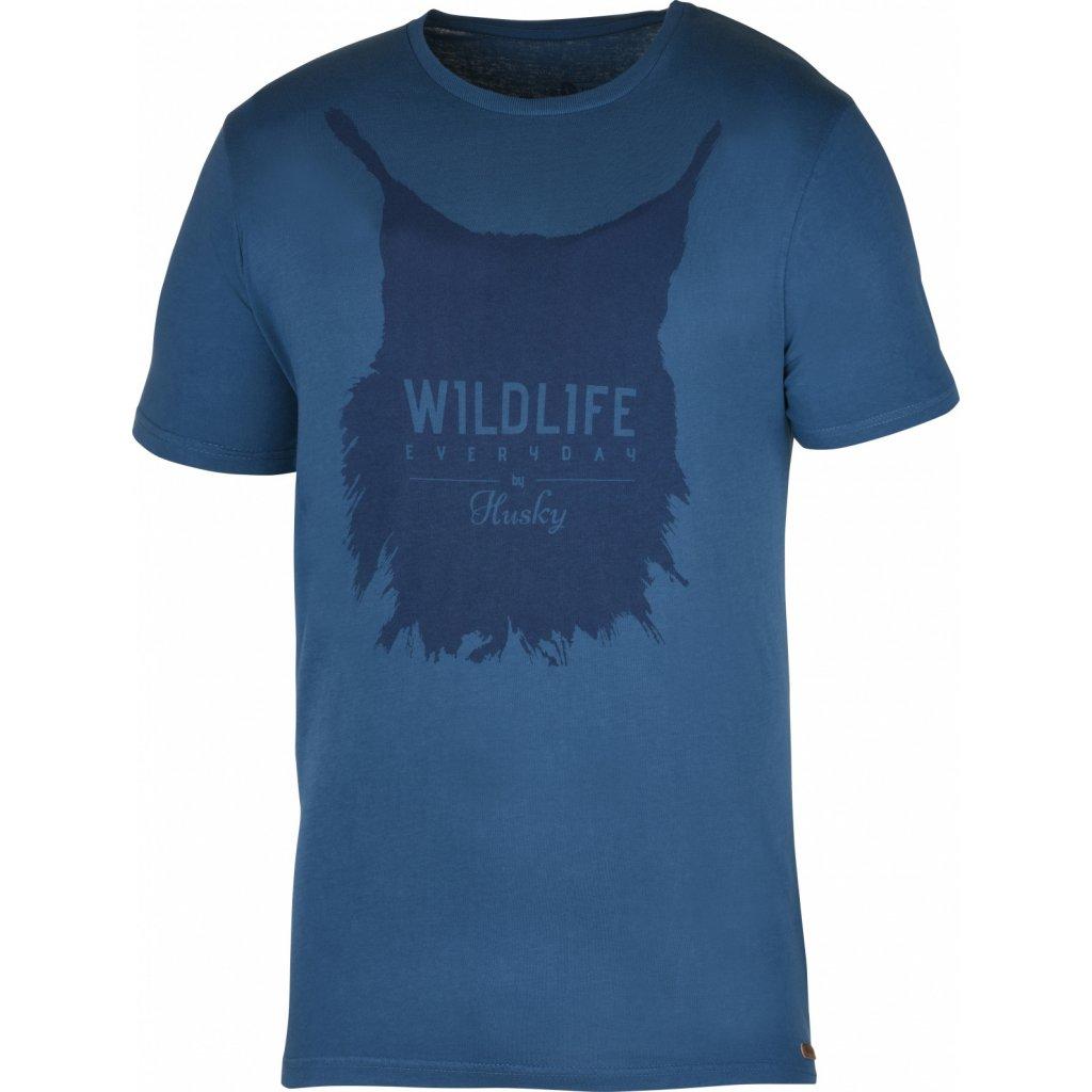 Pánské triko HUSKY  Lynx M tm. modrá