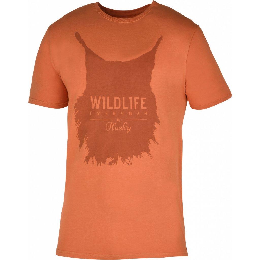 Pánské triko HUSKY  Lynx M tm. oranžová