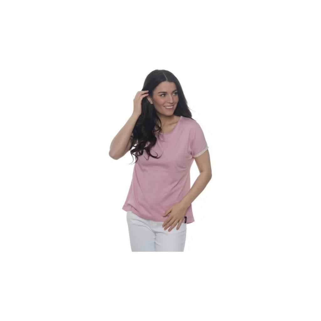 Dámské triko s krátkým rukávem SAM 73 světle růžová