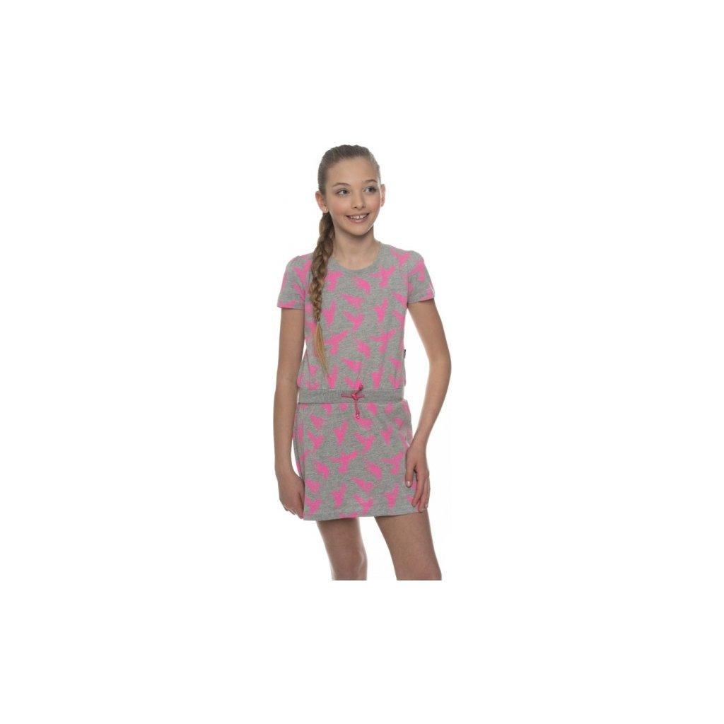 Dívčí šaty SAM 73 šedá světlá
