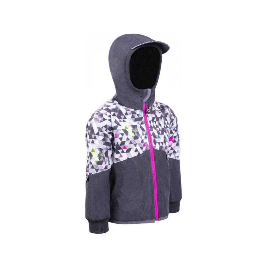 Softshellová bunda bez zateplení UNUO Street, žíhaná antracitová