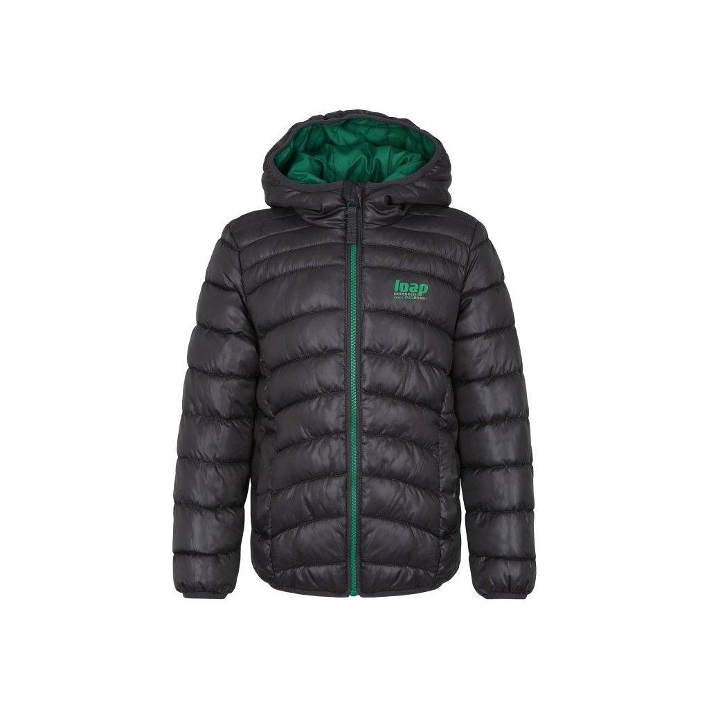 Dětská zimní bunda LOAP Infery  šedá | zelená
