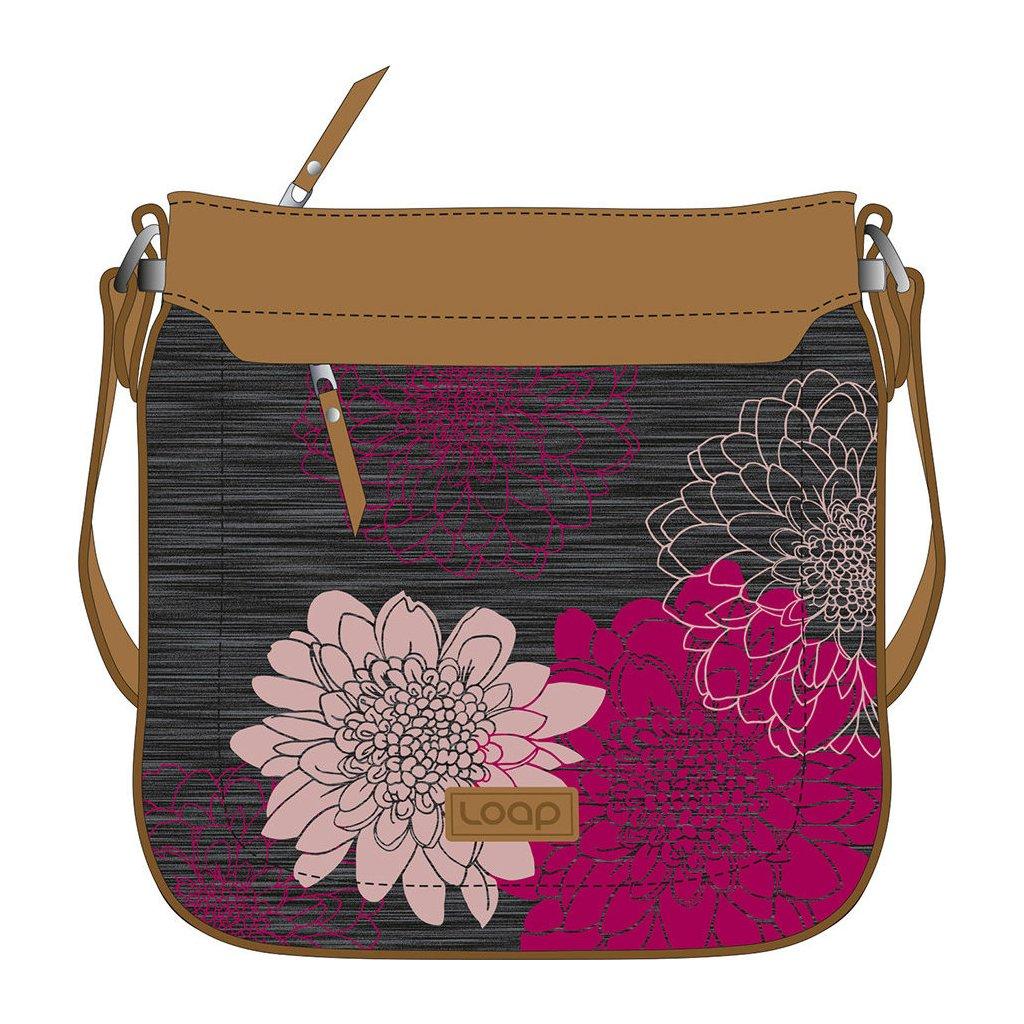 Módní kabelka LOAP Tapia  černá | růžová