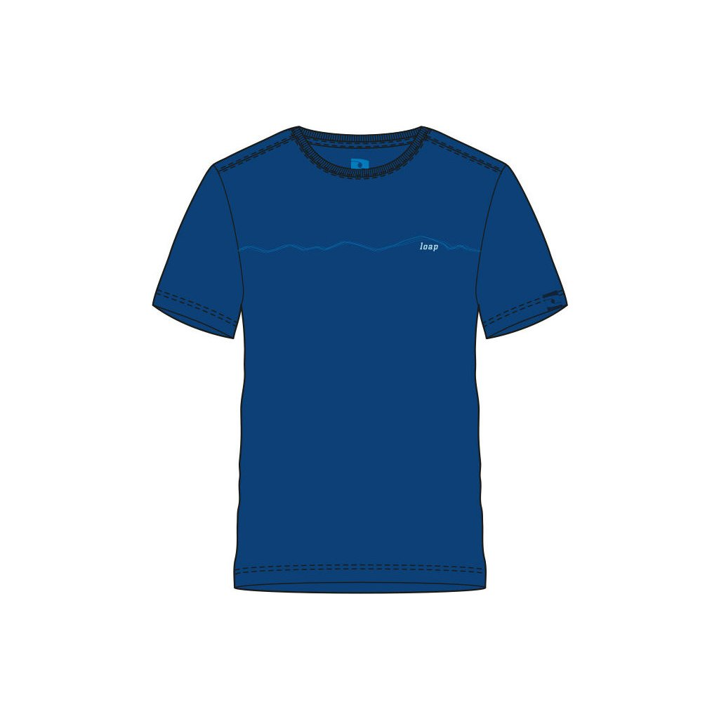 Pánské triko LOAP Alesy modrá