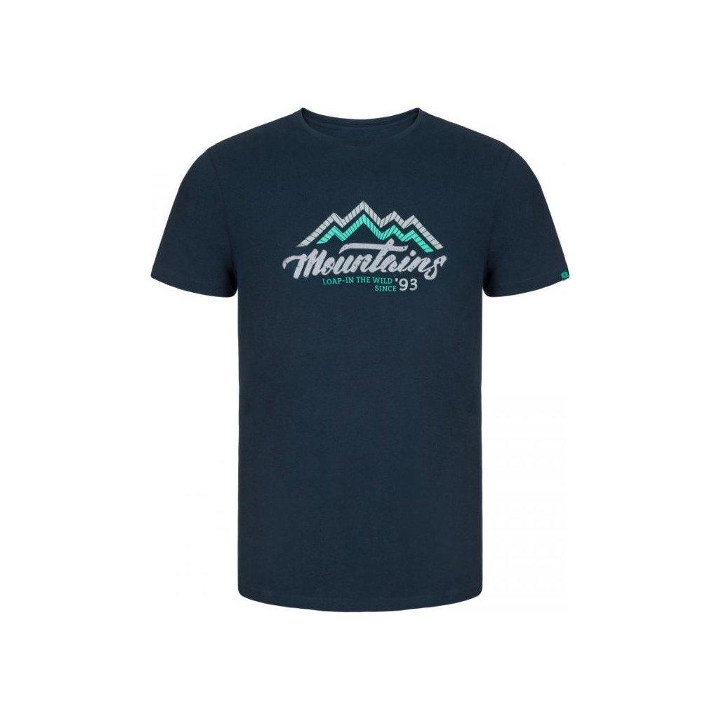 Pánské triko LOAP Alfredo modrá | zelená