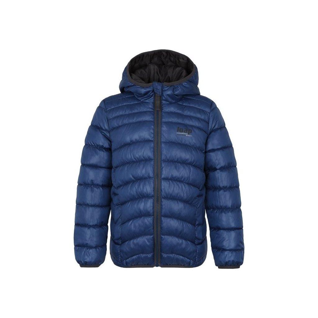 Dětská zimní bunda LOAP Infery modrá | šedá