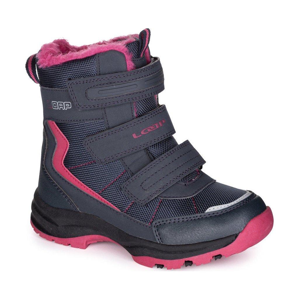 Dětské zimní boty LOAP Sneeky modrá