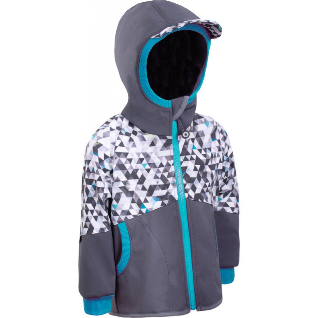 Klučičí softshellová bunda s fleecem UNUO Street, antracitová, metricon