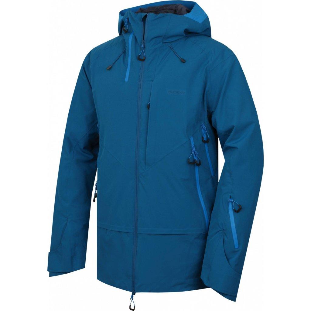 Pánská hardshell bunda HUSKY Gambola M tm.modrá