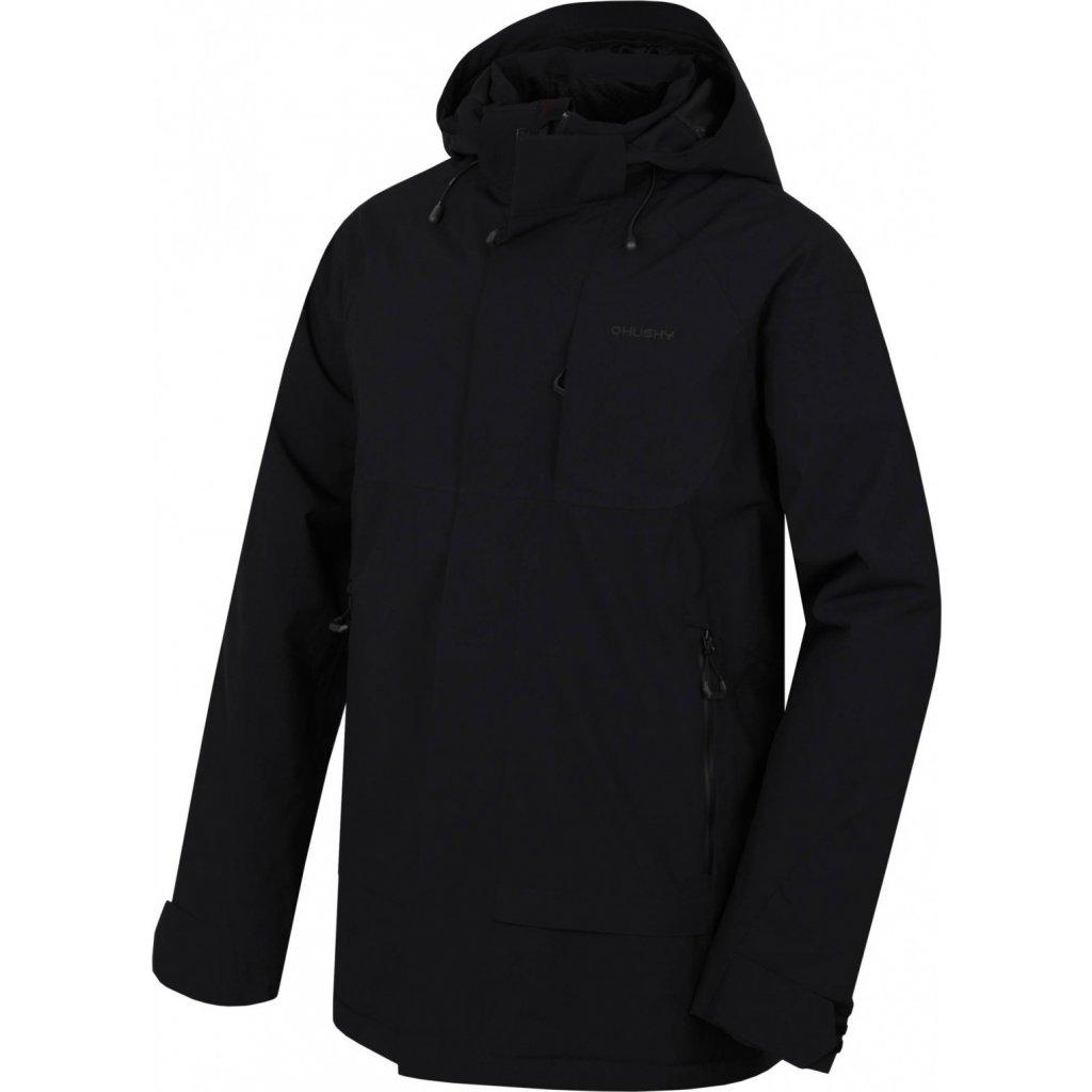 Pánský hardshell plněný kabát HUSKY Nigalo M černá