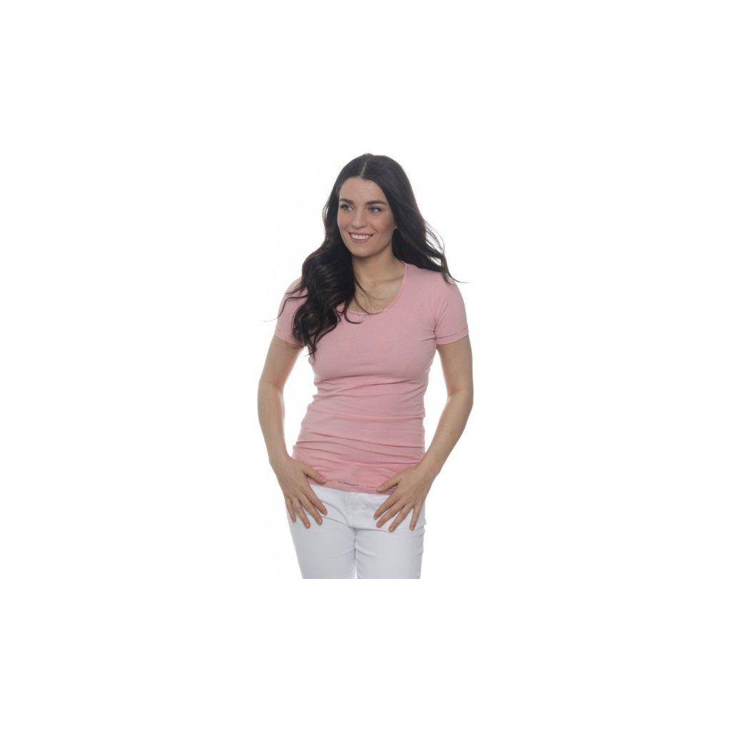 Dámské triko SAM 73 s krátkým rukávem světle růžová