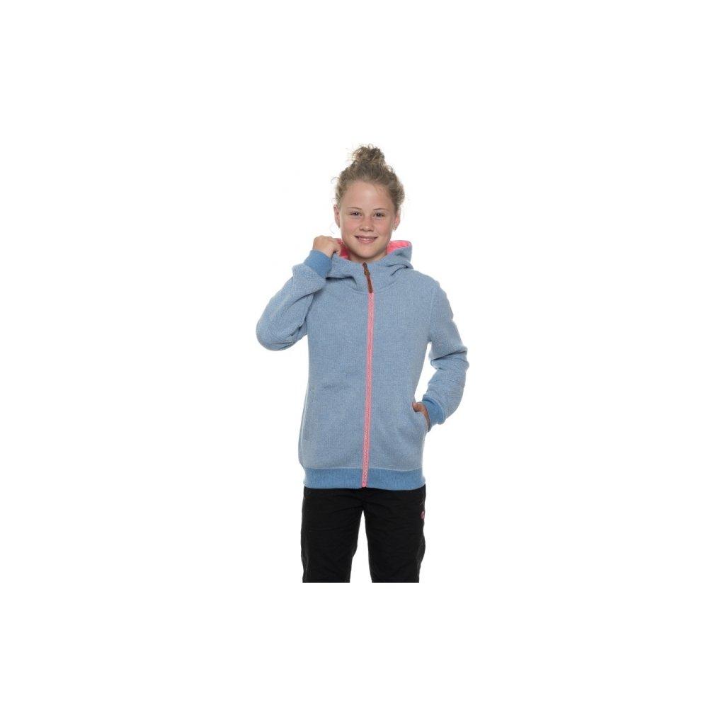 Dívčí mikina SAM 73 Gm 518 200 světlá denim 116