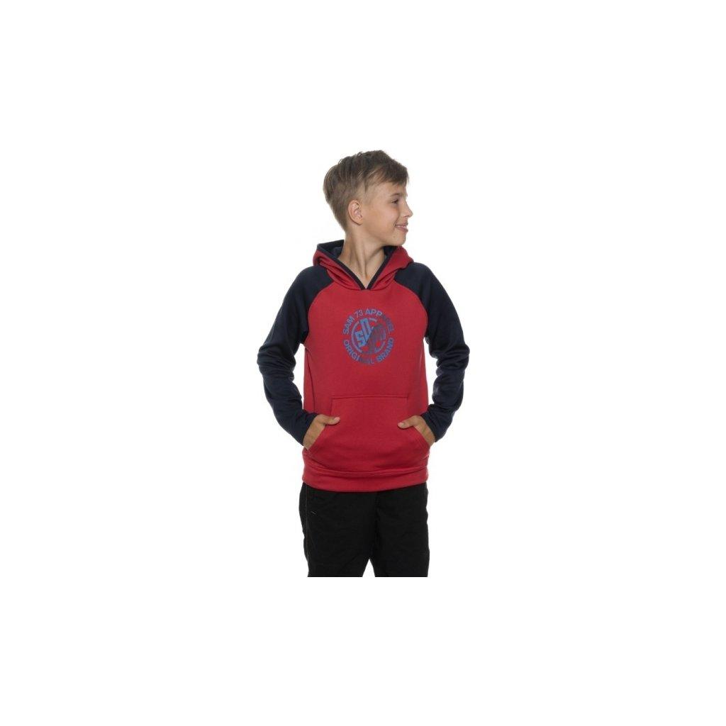 Chlapecká mikina SAM 73 Bm 512 135 červená 116