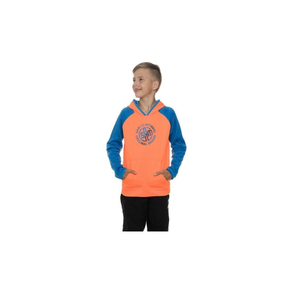 Chlapecká mikina SAM 73 Bm 512 179 oranžová neon 116