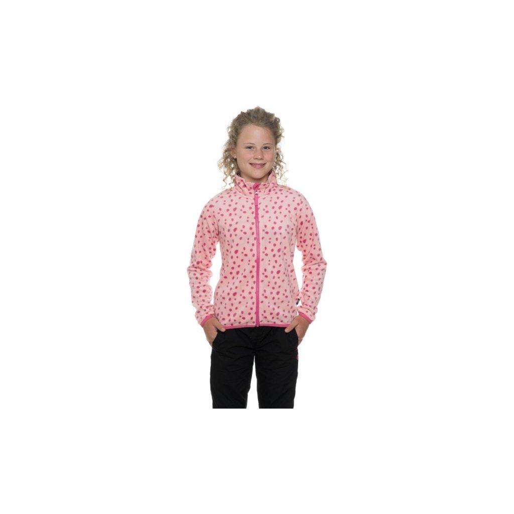 Dívčí mikina SAM 73 - fleece Kswp111 413sm světle růžová 116-122