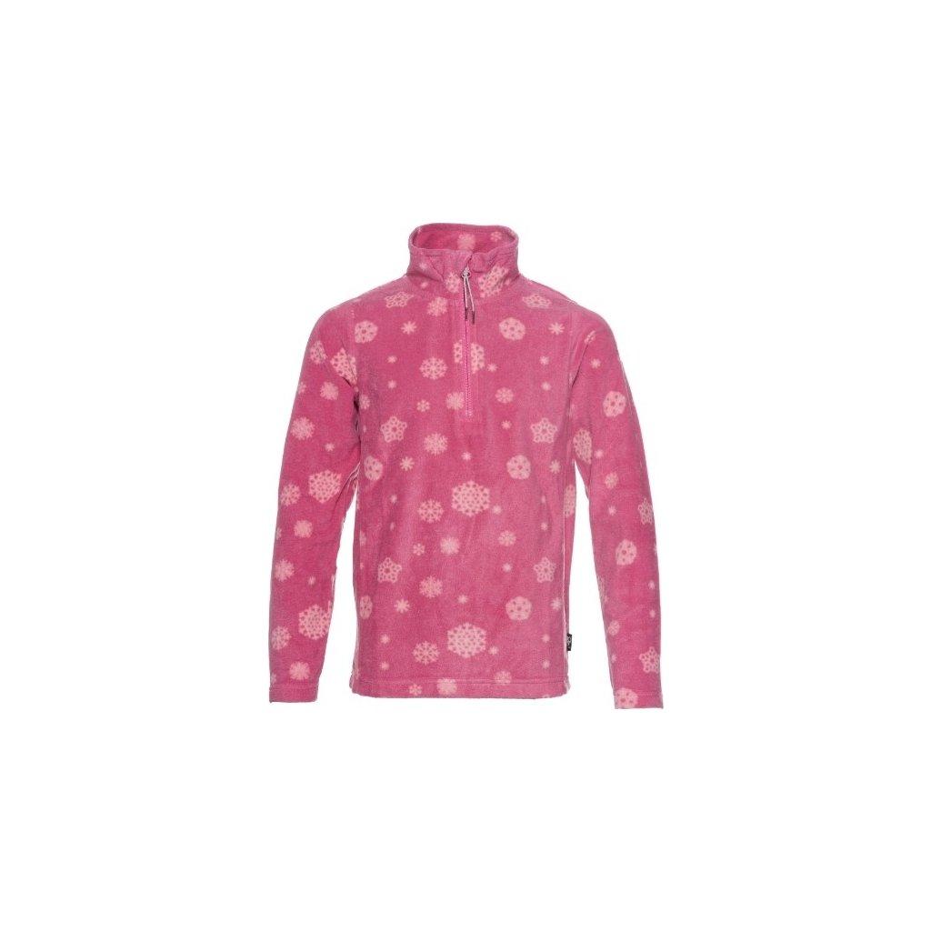 Dívčí mikina SAM 73 - fleece Kswp125 407sm růžová 92-98
