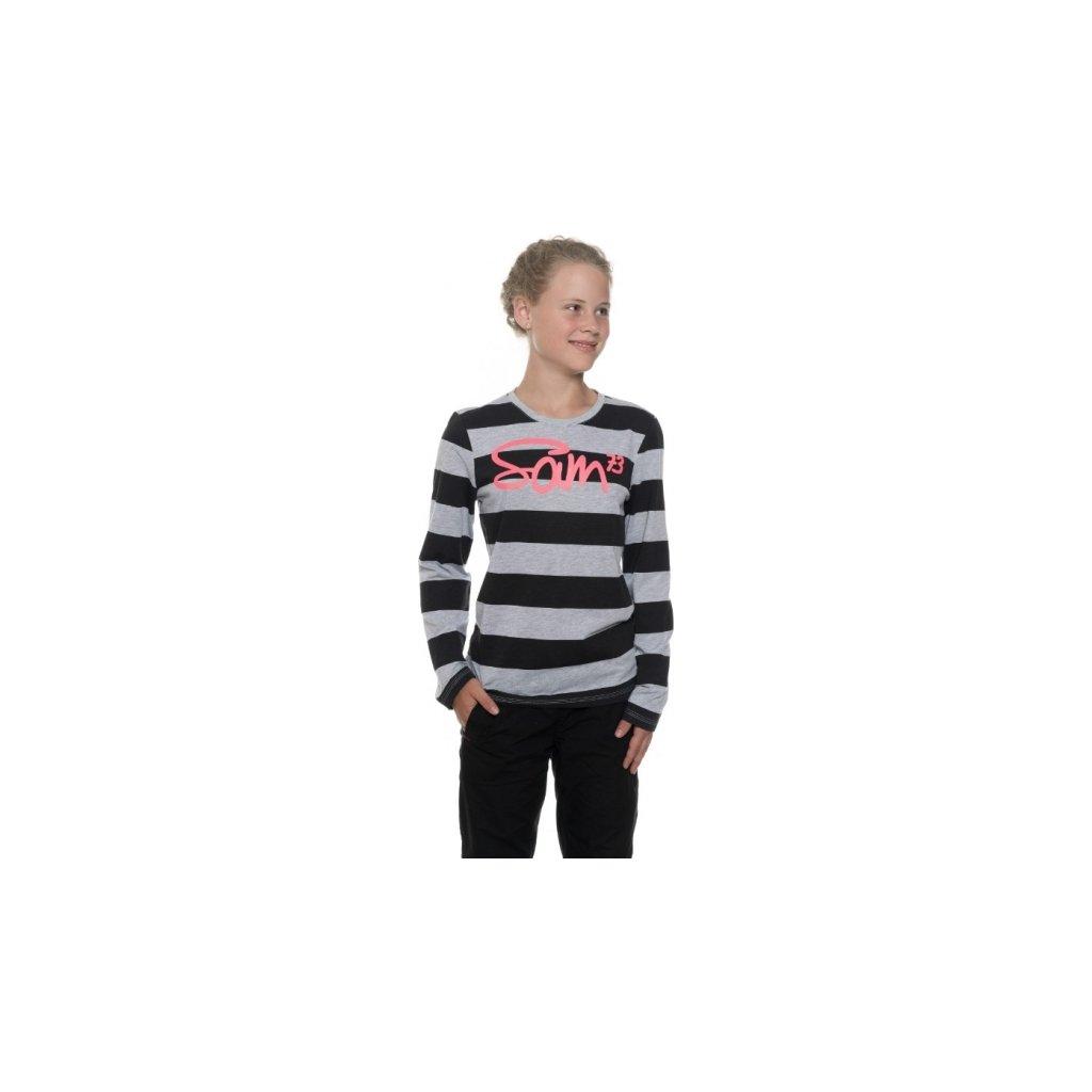 Dívčí triko s dlouhým rukávem SAM 73 Šedá světlá