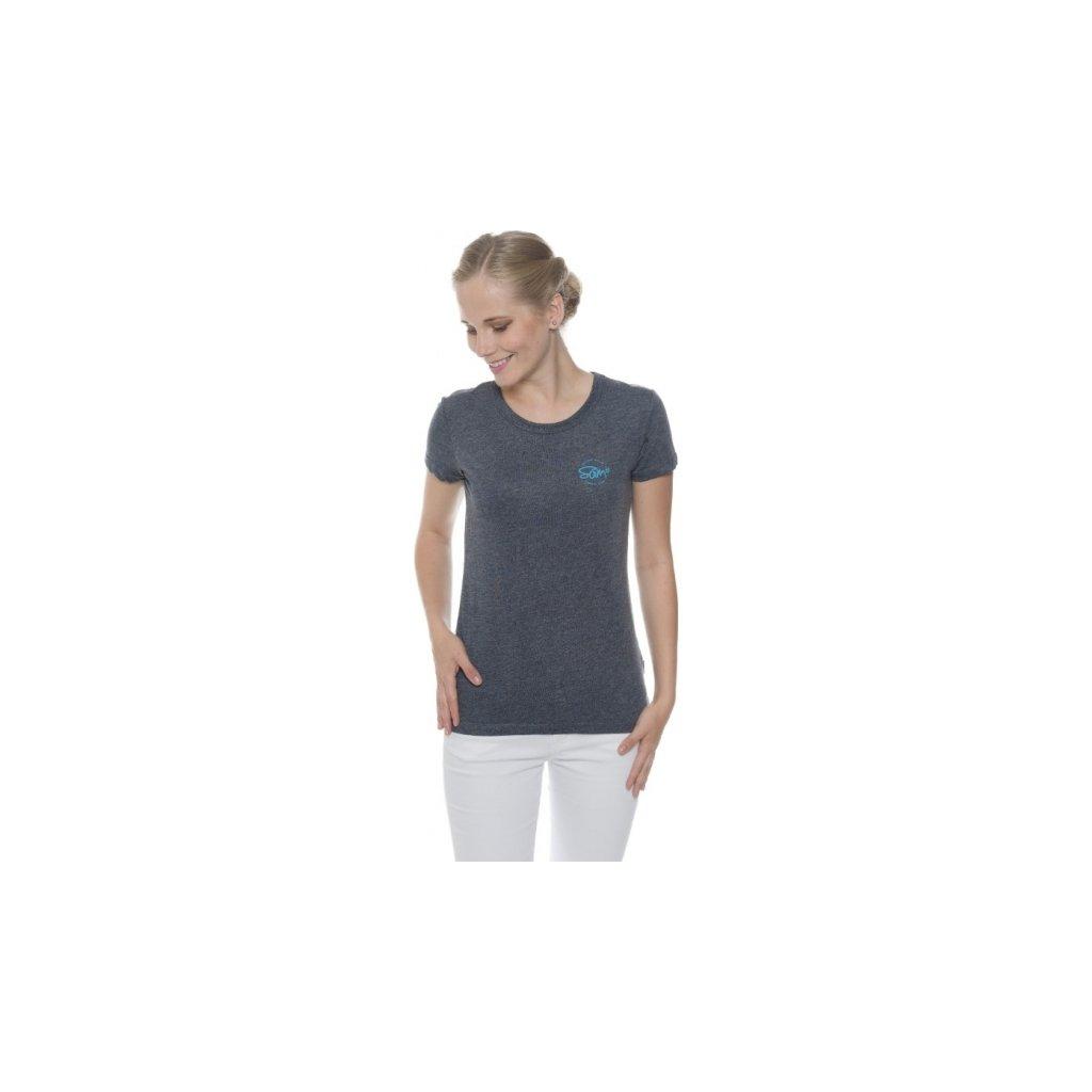 Dámské triko SAM 73 s krátkým rukávem Wt 784 240 modrá tmavá xxs