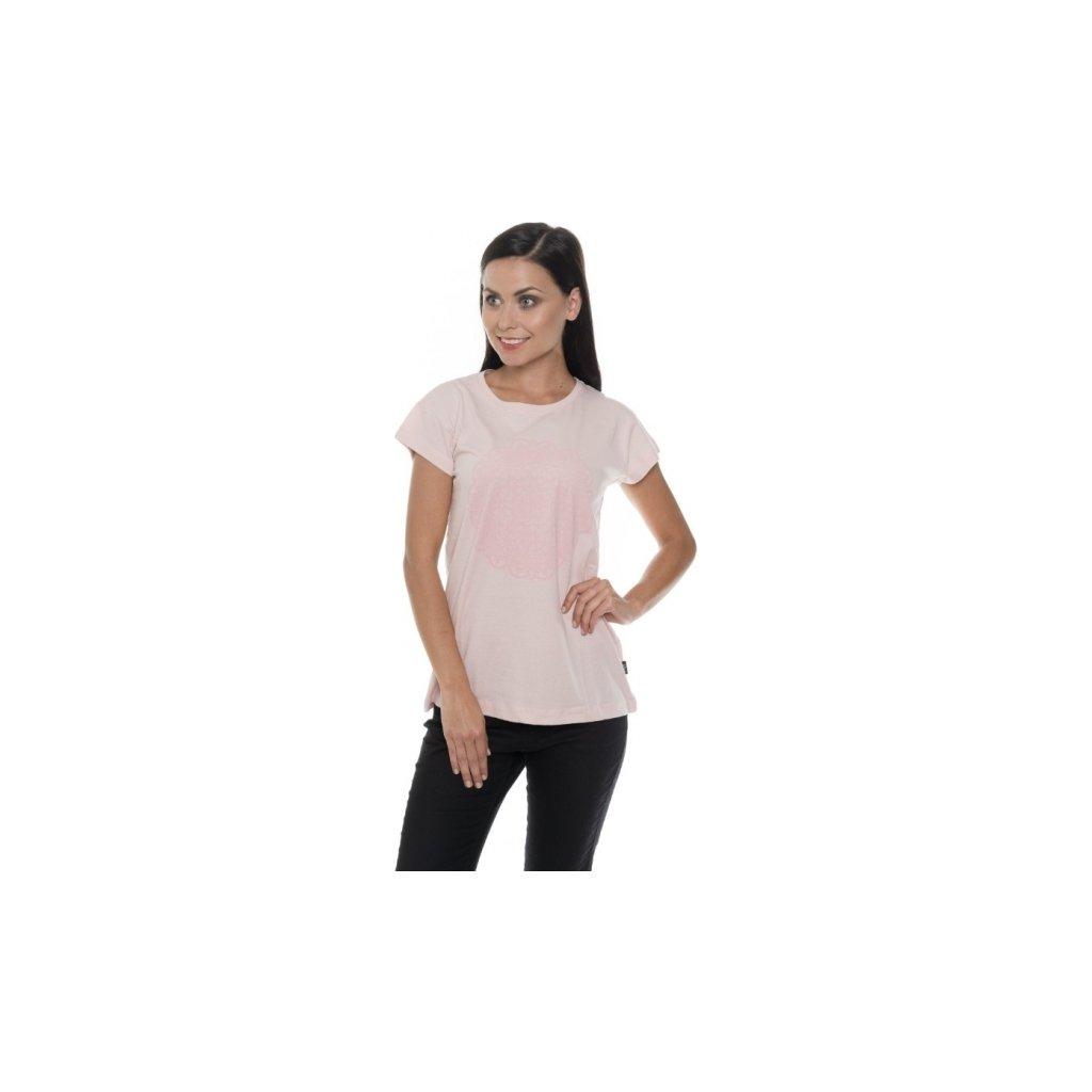 Dámské triko SAM 73 s krátkým rukávem Ltsp534 413sm světle růžová xs
