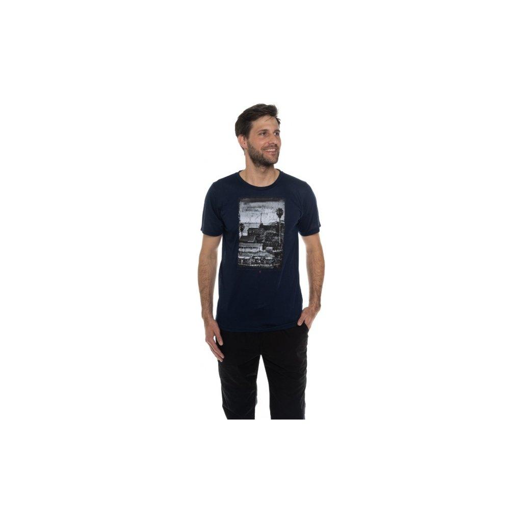 Pánské triko SAM 73 s krátkým rukávem Mtsn393 602sm tmavě modrá s