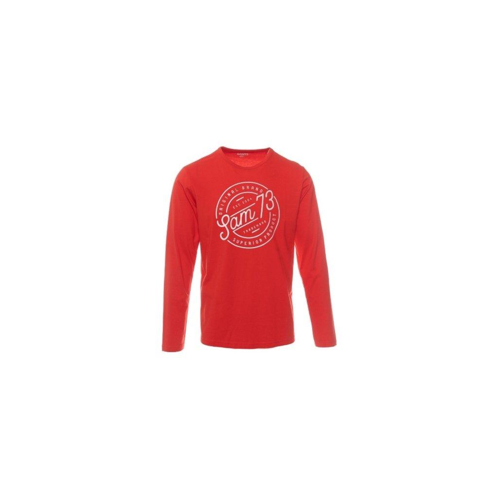 Pánské triko SAM 73 s dlouhým rukávem Mtsp432 475sm červená s