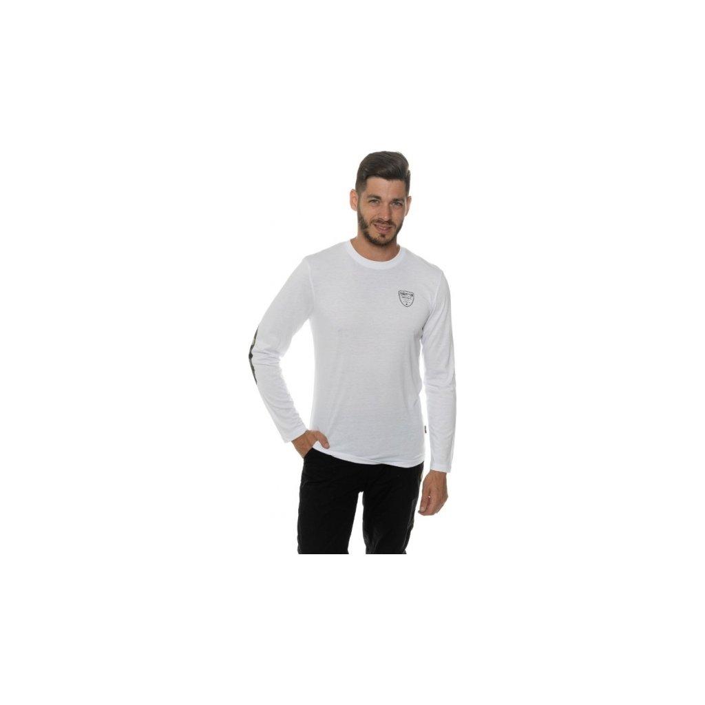Pánské triko SAM 73 s dlouhým rukávem Mt 756 000 bílá s