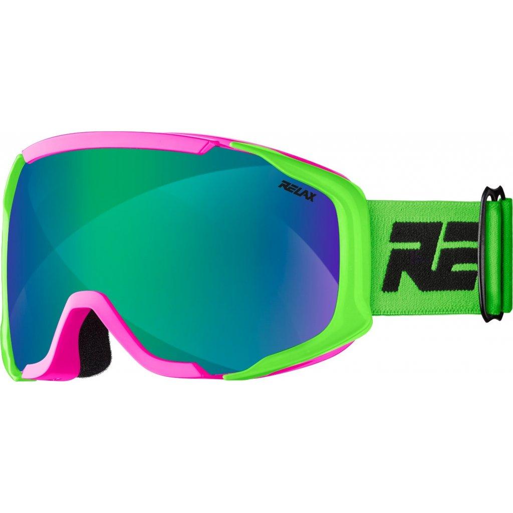 Dětské lyžařské brýle RELAX De-vil neon