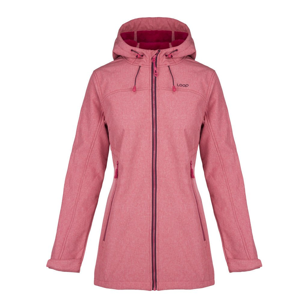 Dámská softshellová bunda LOAP Livia růžová