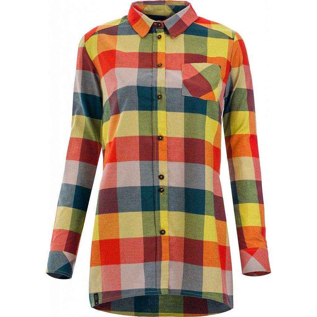 Dámská košile WOOX Camisia Celery Long Chica