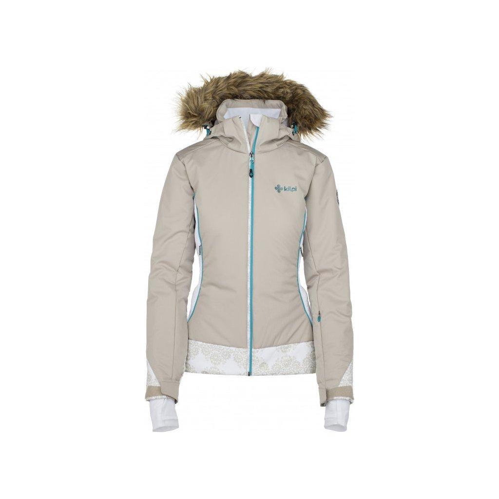 Dámská lyžařská bunda KILPI Vera-w béžová