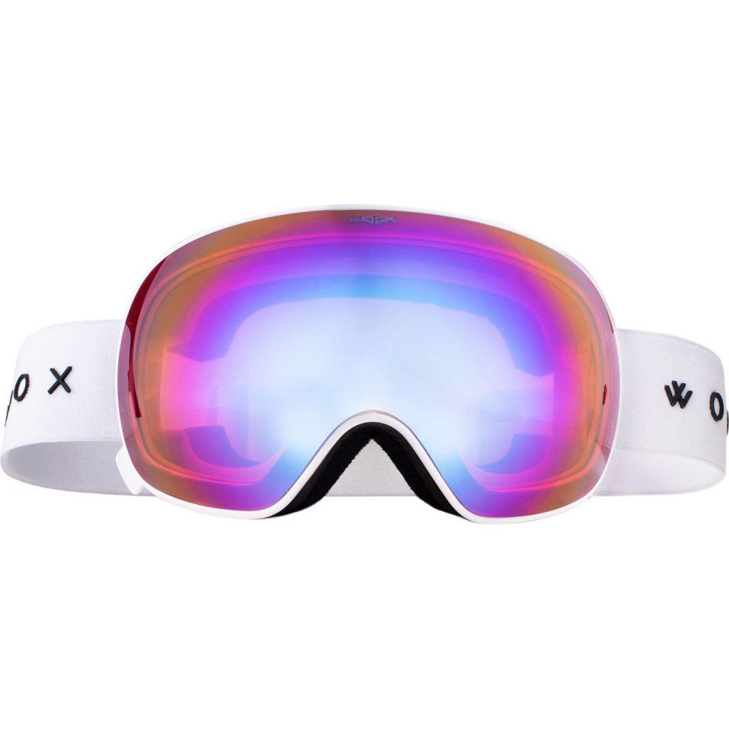 Lyžařské brýle WOOX Opticus Opulentus White/Pin