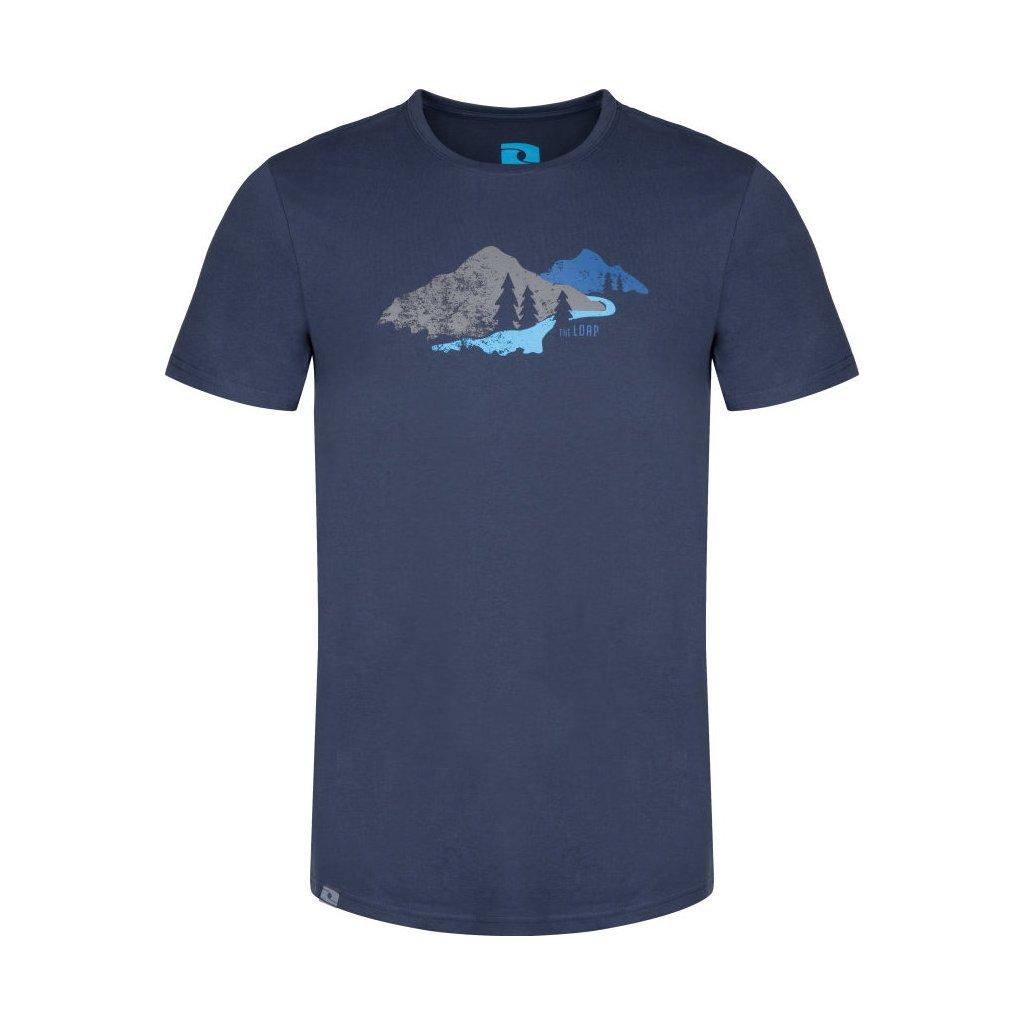 Pánské triko LOAP Belmount modrá