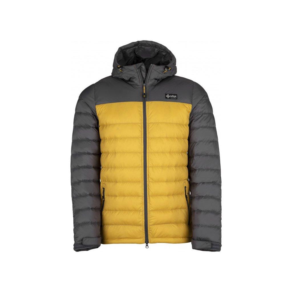 Pánská péřová bunda KILPI Svalbard-m žlutá