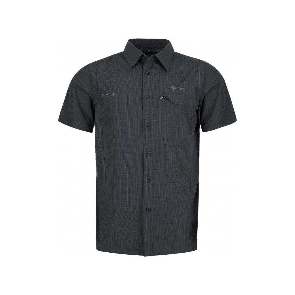 Pánská sportovní košile KILPI Bombay-m tmavě šedá