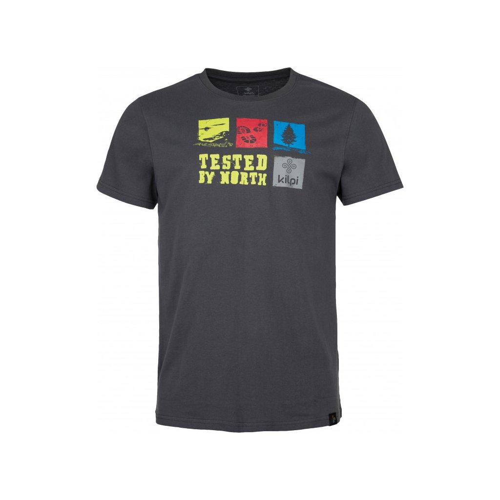 Pánské bavlněné tričko KILPI Toby-m tmavě šedá