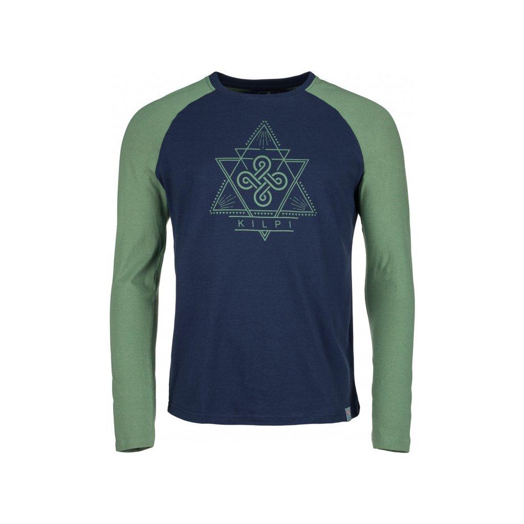 Pánské bavlněné tričko KILPI Piqar-m khaki