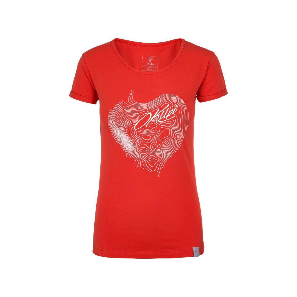 Dámské bavlněné tričko KILPI Yani-w červená