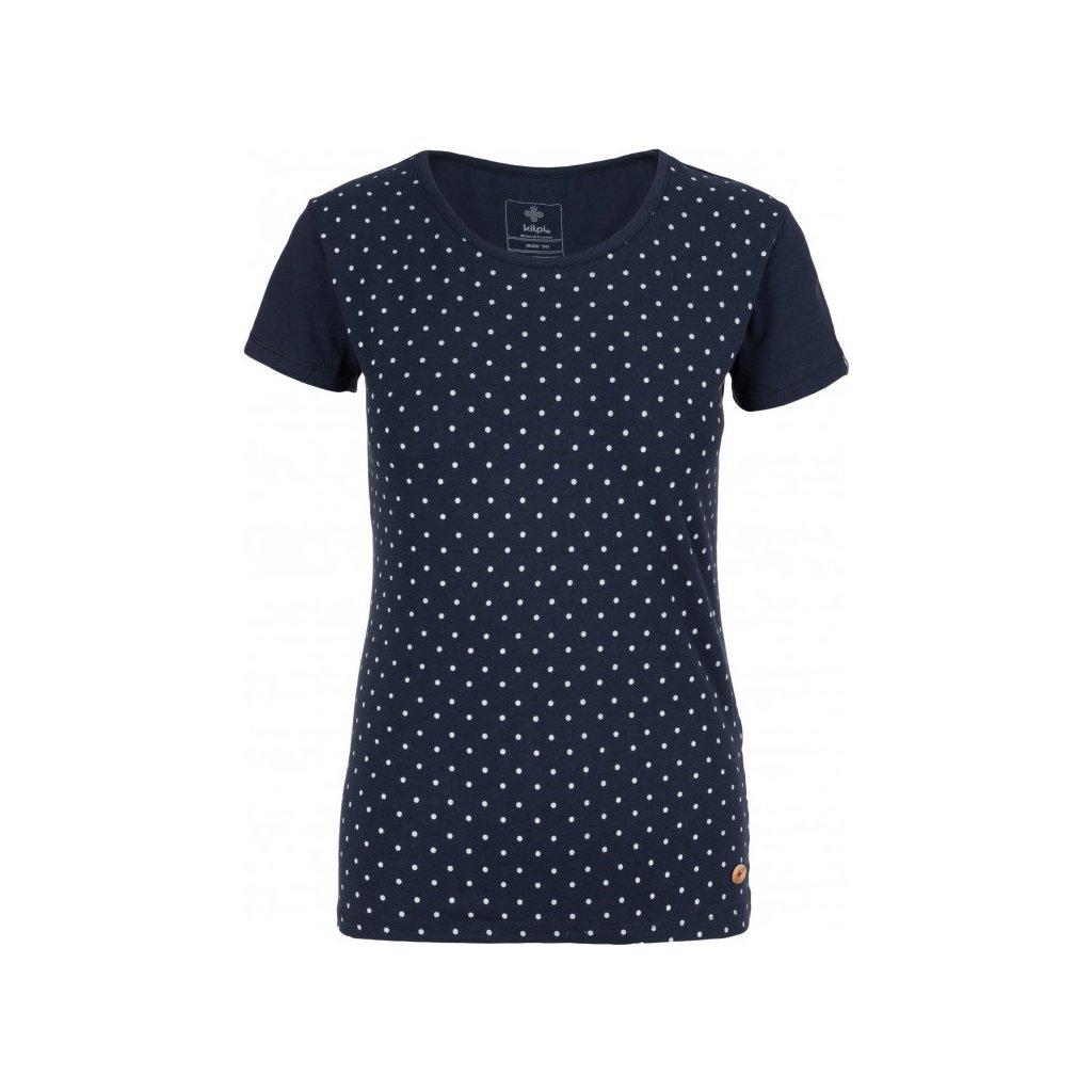 Dámské bavlněné tričko KILPI Mersi-w tmavě modrá