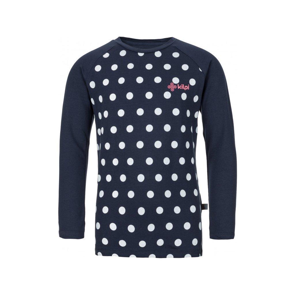 Dívčí bavlněné tričko KILPI Vanila-jg tmavě modrá