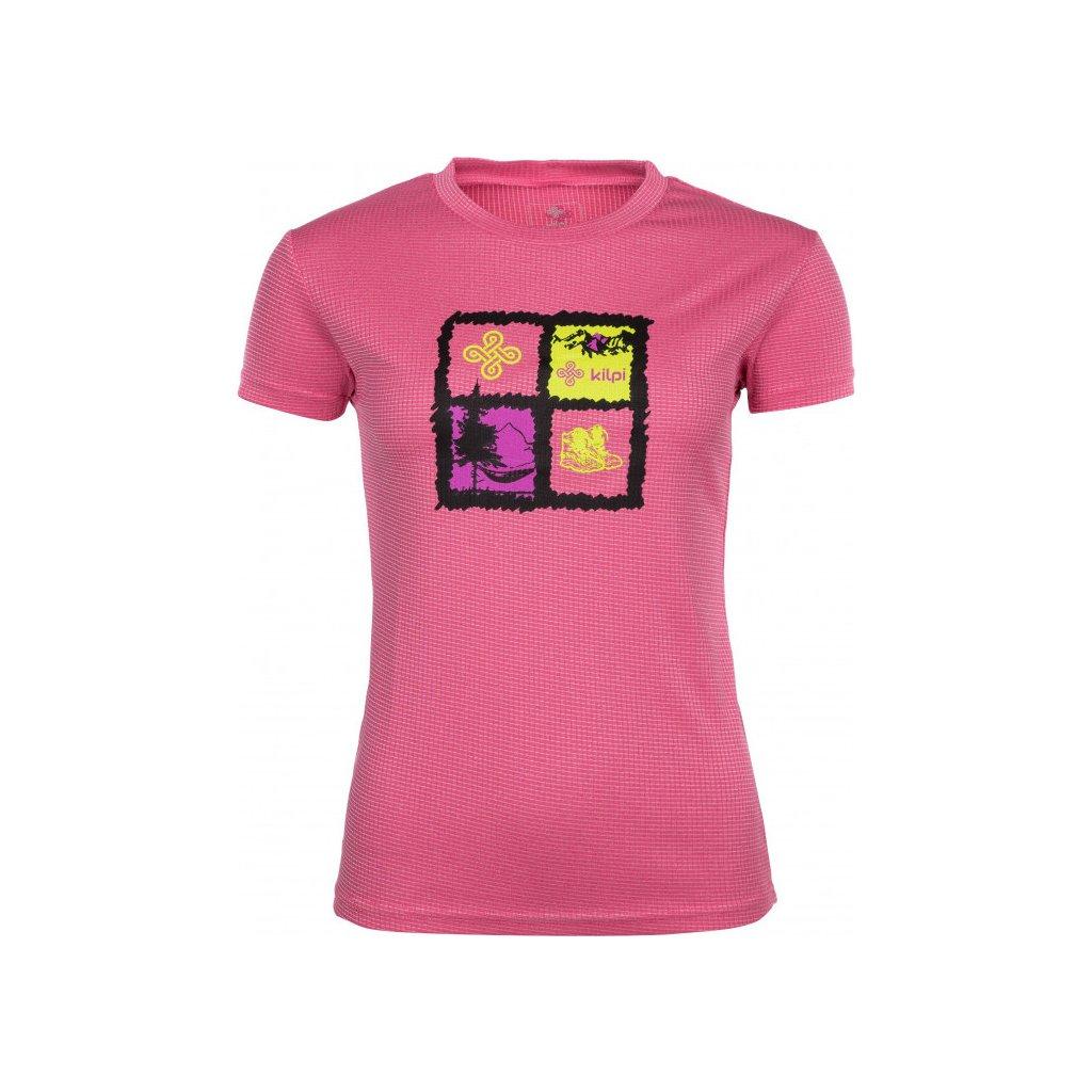 Dámské funkční tričko KILPI Giacinto-w růžová