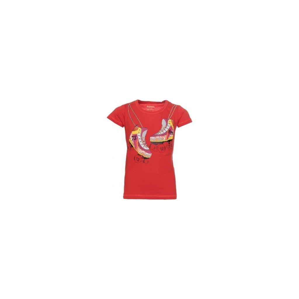 Dívčí triko SAM 73 s krátkým rukávem červená