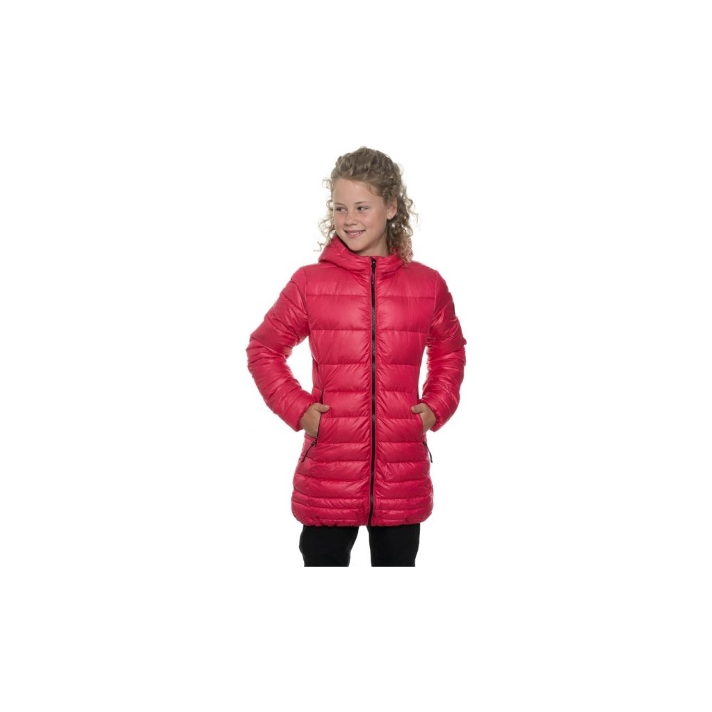 Dívčí zimní kabát SAM 73 Gb 524 120 malinová