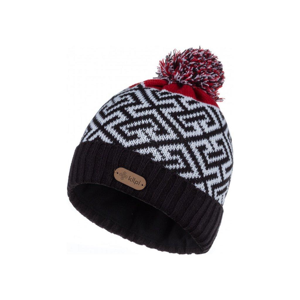 Pánská pletená čepice KILPI Labyrinth-m černá