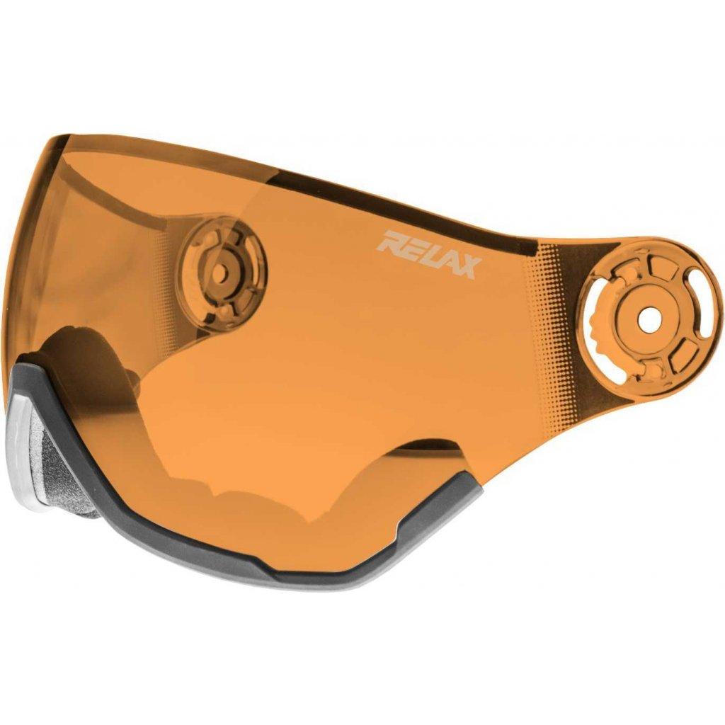 Náhradní štít k helmě RELAX RH28 oranžový