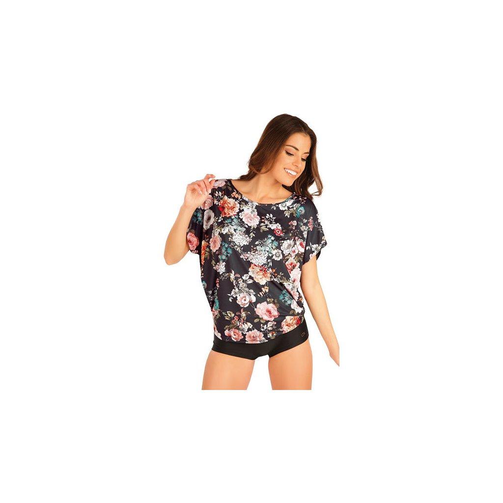 Tričko dámské s krátkým rukávem LITEX černé