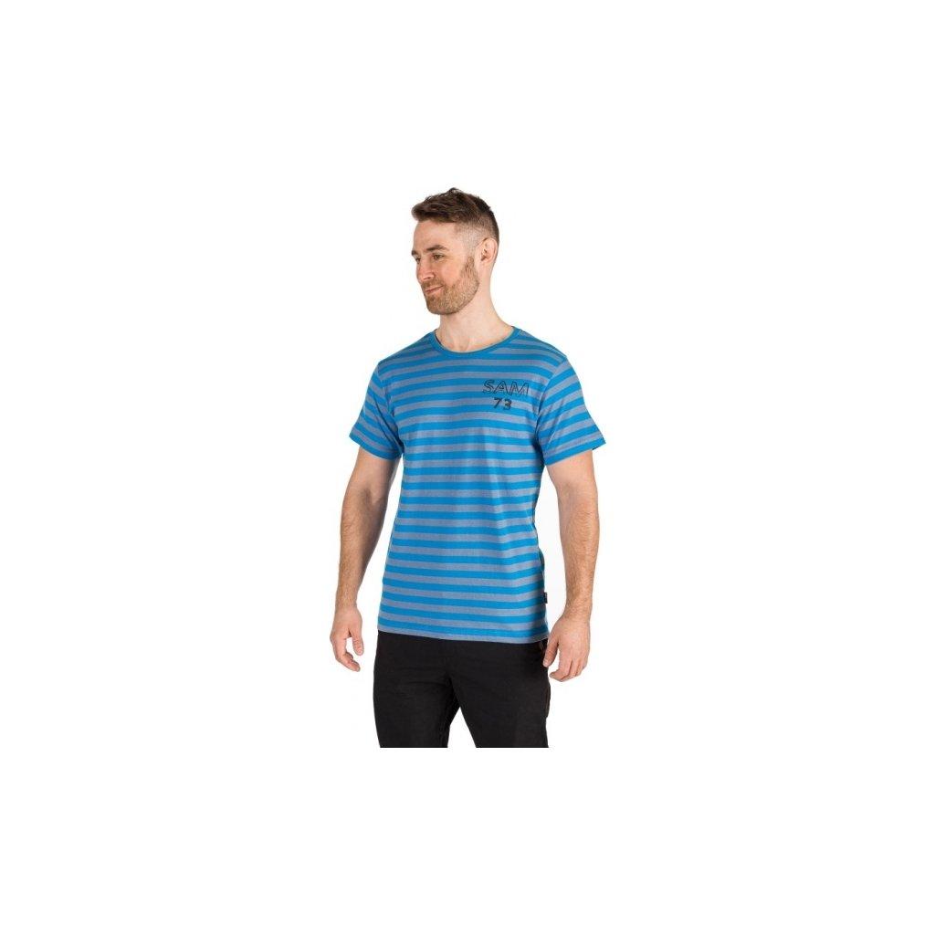 Pánské triko SAM 73 s krátkým rukávem modré