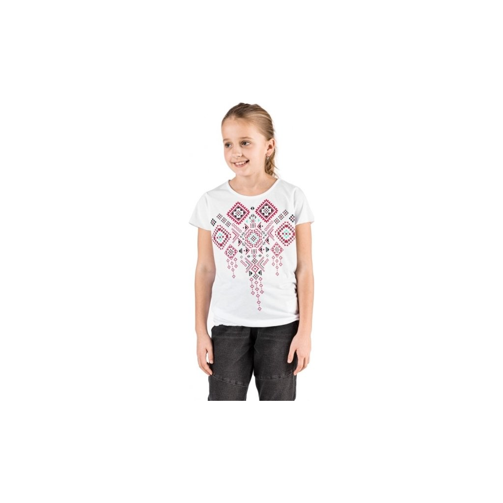 Dívčí triko SAM 73 s krátkým rukávem bílé