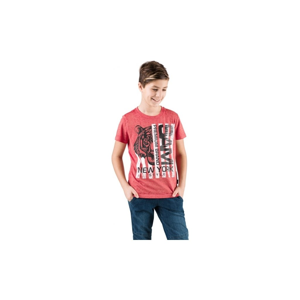 Chlapecké triko SAM 73 s krátkým rukávem červené