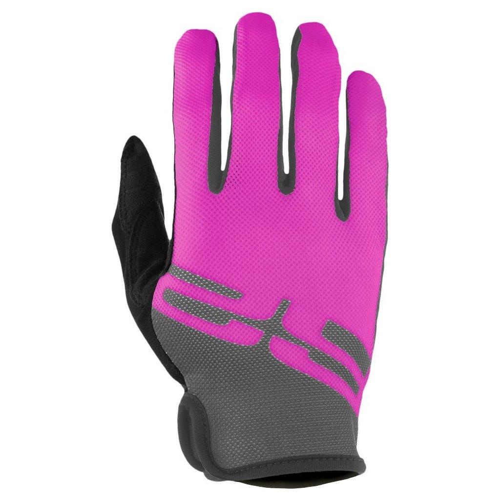 Cyklistické rukavice R2 Hang růžové