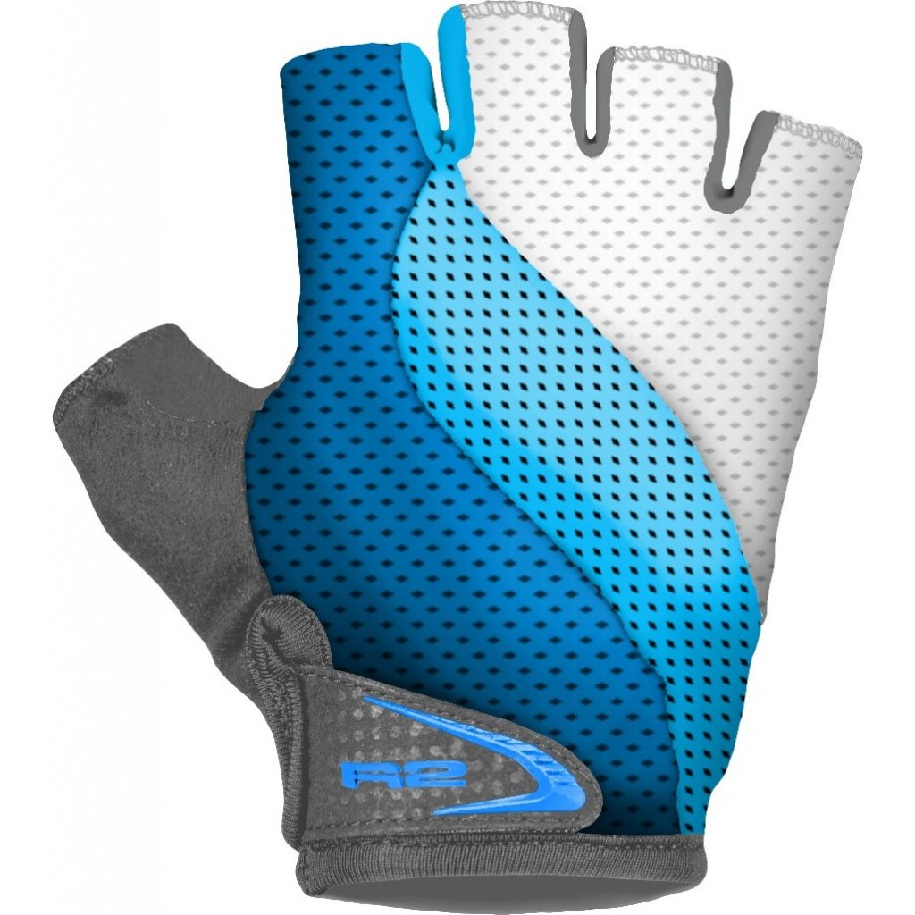 Cyklistické rukavice R2 Wave modré